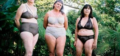 Three women with incurable breast cancer model for charity </title>