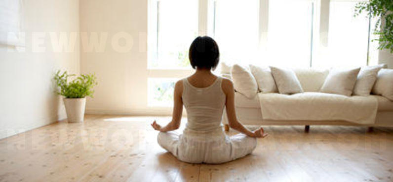Yoga exercises for the home